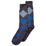 Perry Ellis Mens Houndstooth Dress Socks