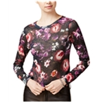 bar III Womens Floral Knit Sweater