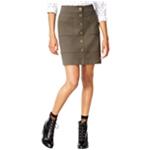 maison Jules Womens Button-Front Knit Pencil Skirt