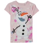 Disney Girls Snowflake Olaf Graphic T-Shirt