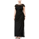 MSK Womens Embellished Gown Dress
