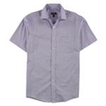 Club Room Mens Short Sleeve Button Up Dress Shirt