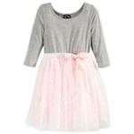 Pink & Violet Girls Dot Tutu Shift Dress