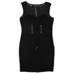 GUESS Womens Illusion Bodycon Dress