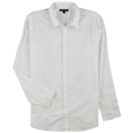 I-N-C Mens Solid Button Up Shirt