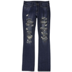 True Religion Womens Billie Ripped Chain Straight Boot Leg Jeans