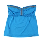 Lucky Brand Womens Ruffled Bandeau Swim Top