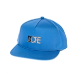 DOPE Mens The Gold Metal Logo Snapback Baseball Cap