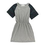 Cynthia Rowley Womens Jersey Plaid Shirt Dress