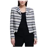 DKNY Womens Tweed Motorcycle Jacket