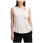 DKNY Womens Tie Sleeveless Blouse Top