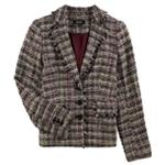 DKNY Womens Tweed Three Button Blazer Jacket