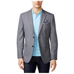 Tommy Hilfiger Mens Multicolor Checked Two Button Blazer Jacket