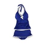 Profile Womens Trimmed Ruffle Skirt 2 Piece Tankini
