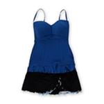 Profile Womens Full Foam Bust Ruffle Skirt 2 Piece Bandeau