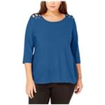 Belldini Womens Shoulder Cutout Pullover Blouse