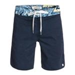 Quiksilver Mens Street Trunk Print Swim Bottom Board Shorts