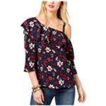 Rachel Zoe Womens Floral One Shoulder Blouse