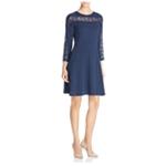 Finity Womens Lace Inset Shift Dress