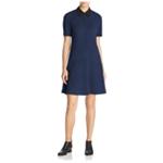 Finity Womens Contrast Collar A-line Dress