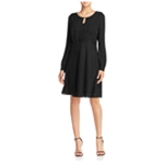 Finity Womens Solid A-line Dress