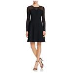 Finity Womens Lace Panel A-line Dress