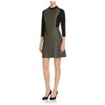 Finity Womens Shiny A-line Dress