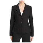 Finity Womens Notch Lapel Two Button Blazer Jacket