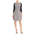 Finity Womens Colorblock A-line Dress