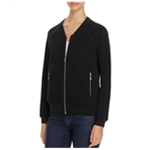 Finity Womens Quilted Knit Bomber Jacket