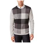 Ryan Seacrest Distinction Mens Plaid-Front Pullover Sweater