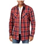 Weatherproof Mens Vintage Twill Plaid Shirt Jacket