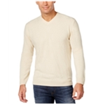 Weatherproof Mens Solid Textured Knit Pullover Sweater