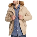 Weatherproof Mens Canvas Fleece Parka Coat