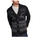Weatherproof Mens Reindeer Cardigan Sweater