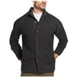 Weatherproof Mens Waffle-Stitch Cardigan Sweater