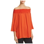 Theory Womens Ruched Pullover Blouse