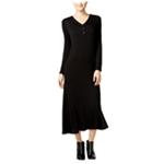 G.H. Bass & Co. Womens Marled Maxi Dress