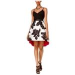 Teeze Me Womens Floral A-line Dress