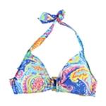 Ralph Lauren Womens Ring Front Bikini Swim Top