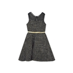 Rare Editions Girls Tweed Fit & Flare A-line Dress