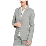 Tommy Hilfiger Womens Pinstripe One Button Blazer Jacket