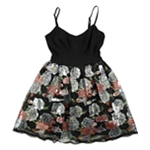 Teeze Me Womens Sequin Fit & Flare Dress