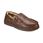 Club Room Mens Faux-Leather Moccasin Slippers