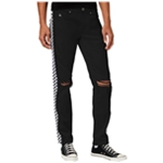 American Stitch Mens Checker Straight Leg Jeans