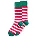 Hot Sox Mens Holiday Stripe Midweight Socks