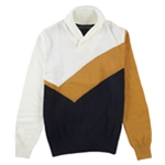 Sean John Mens Colorblocked Knit Sweater