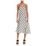 Theory Womens Athens Striped A-line Dress
