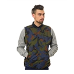 Crooks & Castles Mens The Killstreak Reversible Quilted Vest