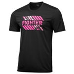 Ideology Mens Breast Cancer Awareness Fighter Graphic T-Shirt